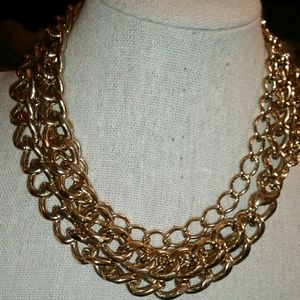 Stella & Dot 'LA Coco' Curb Chain Necklace & Multi